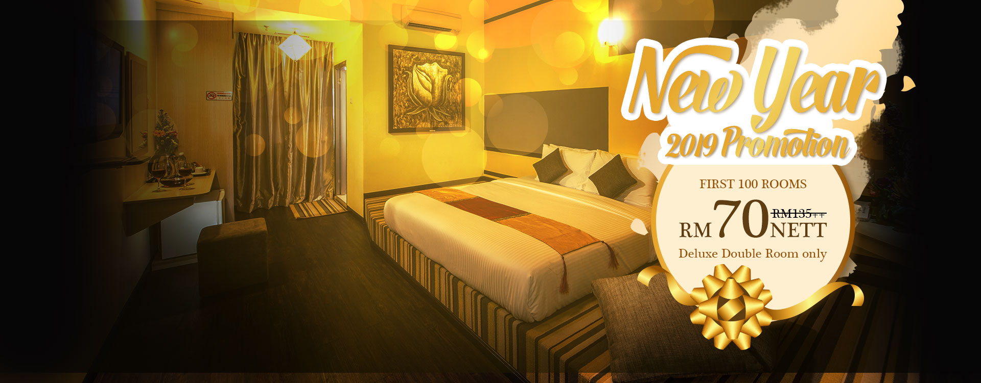 New Year 2019 Promotion - Deluxe Double Room RM70
