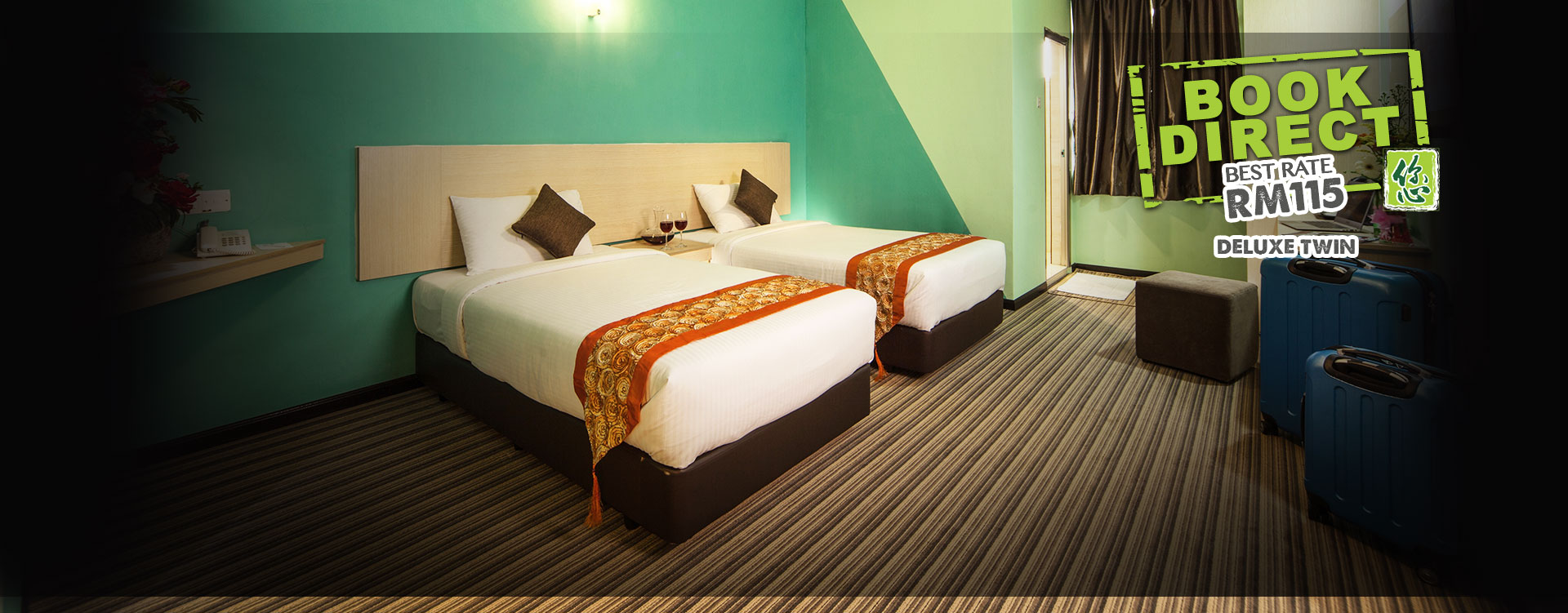 Thy Executive Hotel Deluxe Twin Room at RM115