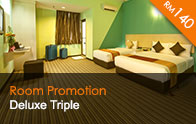 Thy Executive Hotel Deluxe Triple at RM140