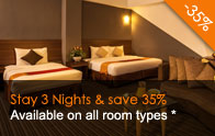 Stay 3 Nights & Save 35%